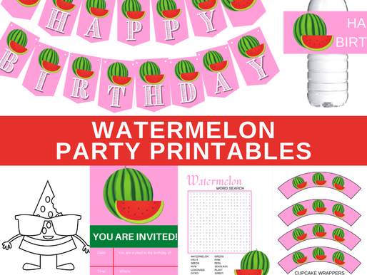 FREE Watermelon Birthday Party Theme Printables