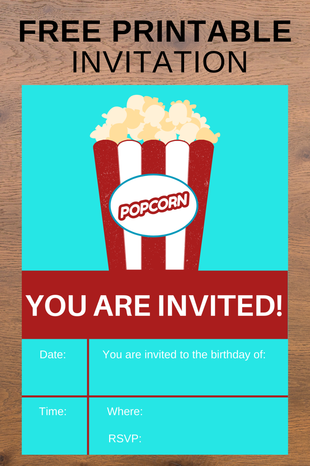 free download: carnival themed birthday party invitation