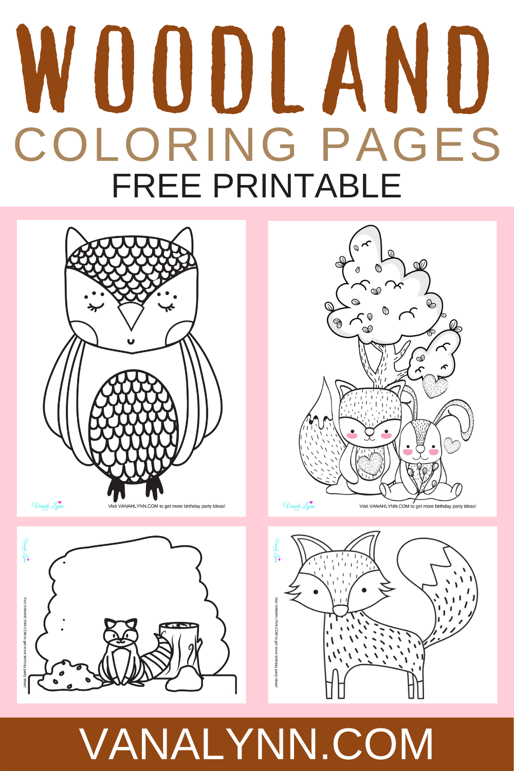 free download: woodland animal themed ideas for a birthday party
