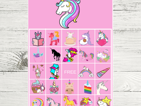 Unicorn Bingo | Unicorn Themed Party Game Ideas | Unicorn Birthday Party Activity