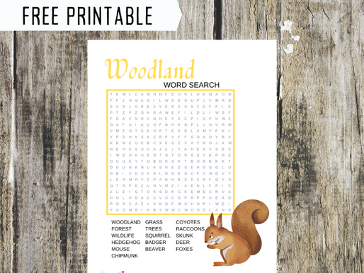 Woodland Word Search | Free Printable Woodland Themed Activity Sheet | Woodland Word Find for Child