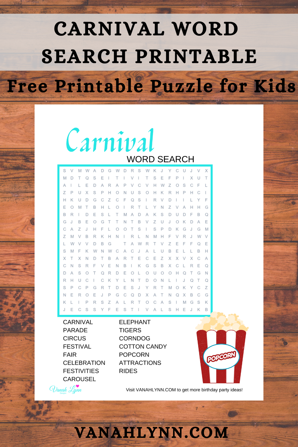 carnival birthday party game ideas for kids