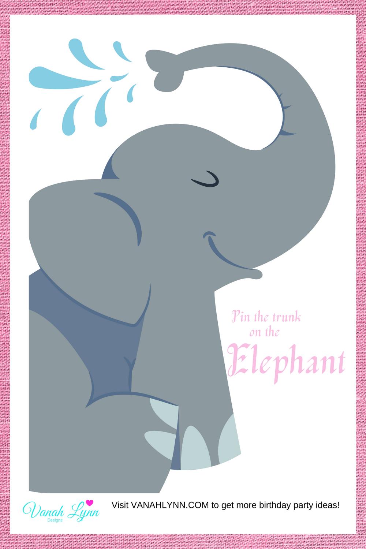 free printable elephant birthday party activity ideas