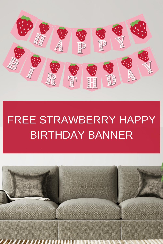 strawberry birthday party decorations