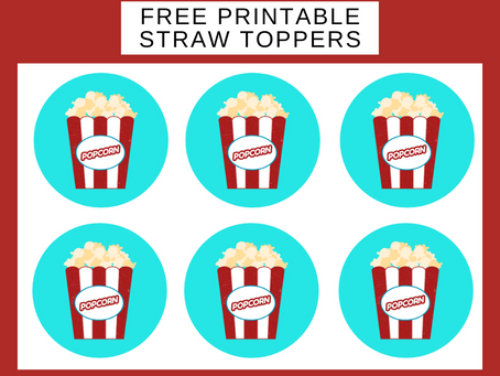 Carnival Straw Toppers | Free Printable Carnival Birthday Party Ideas | DIY Party Decorations