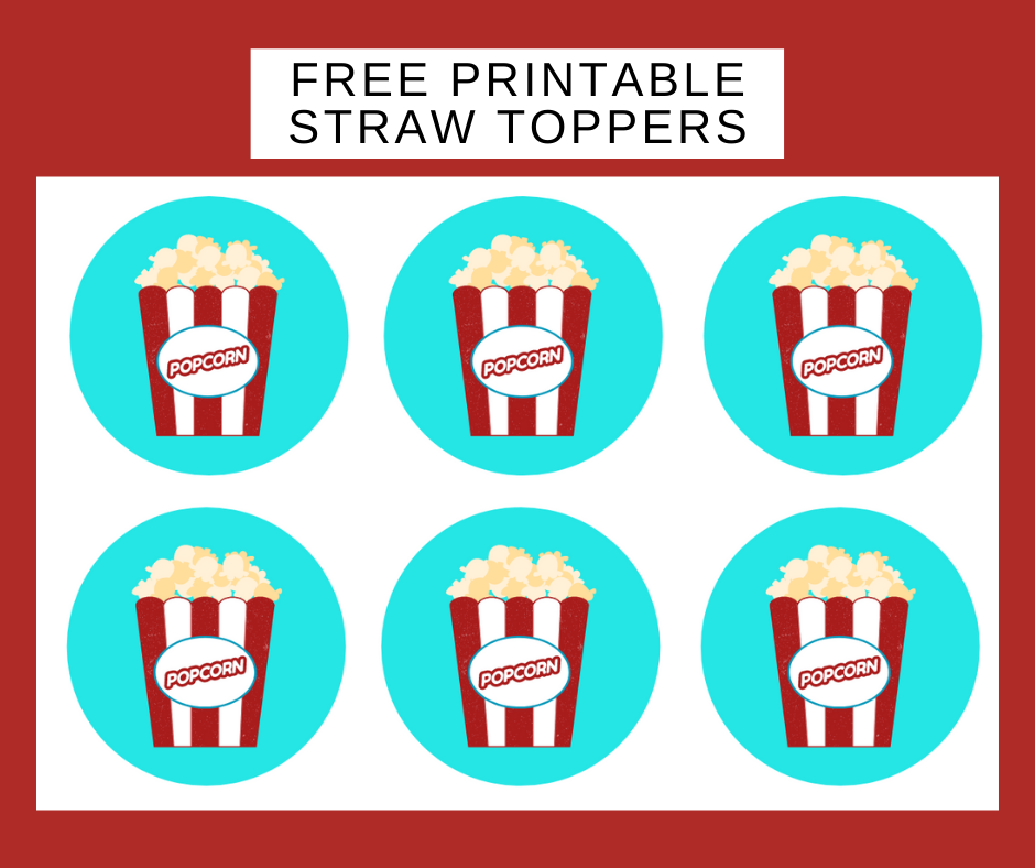 free printable carnival straw toppers