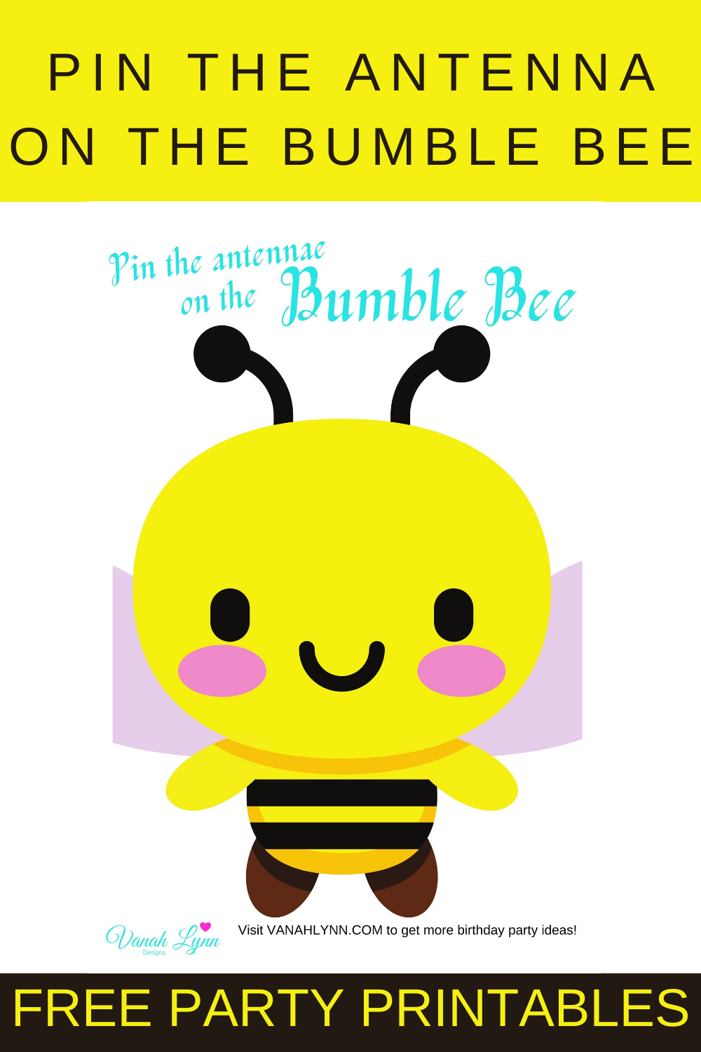 bumble bee free party printables