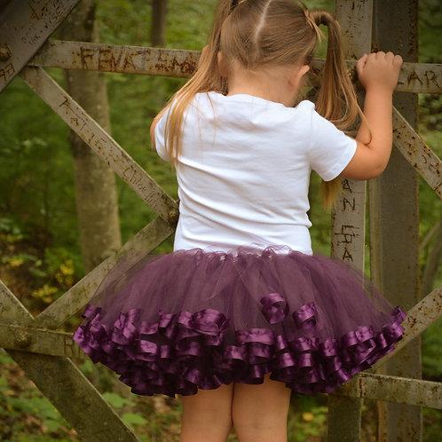 plum tutu skirt for thanksgiving