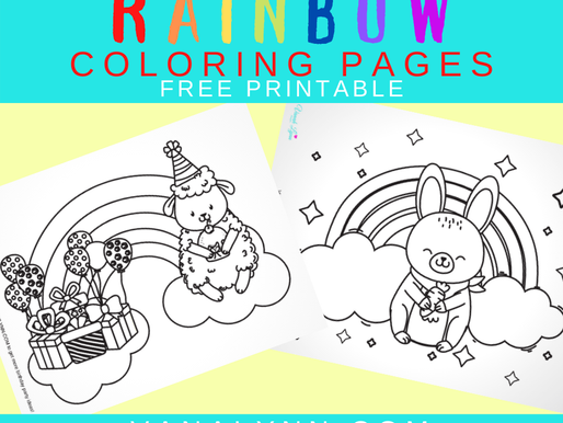 10 Coloring Pages for Kids Rainbow FREE Printables