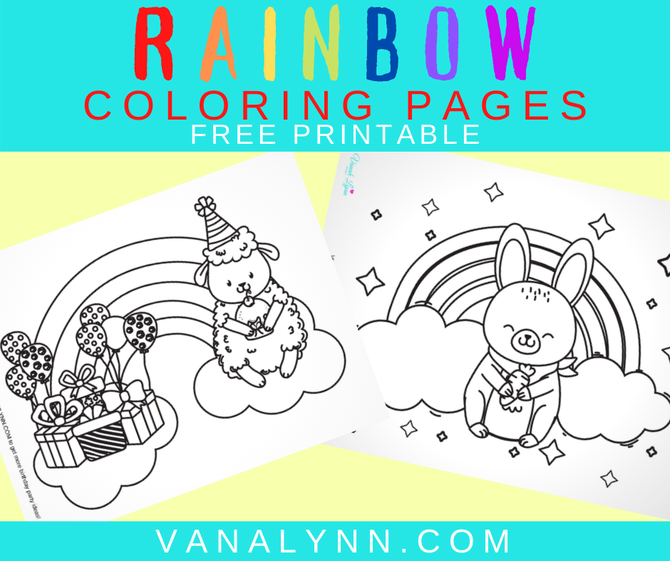 coloring pages for kids rainbow