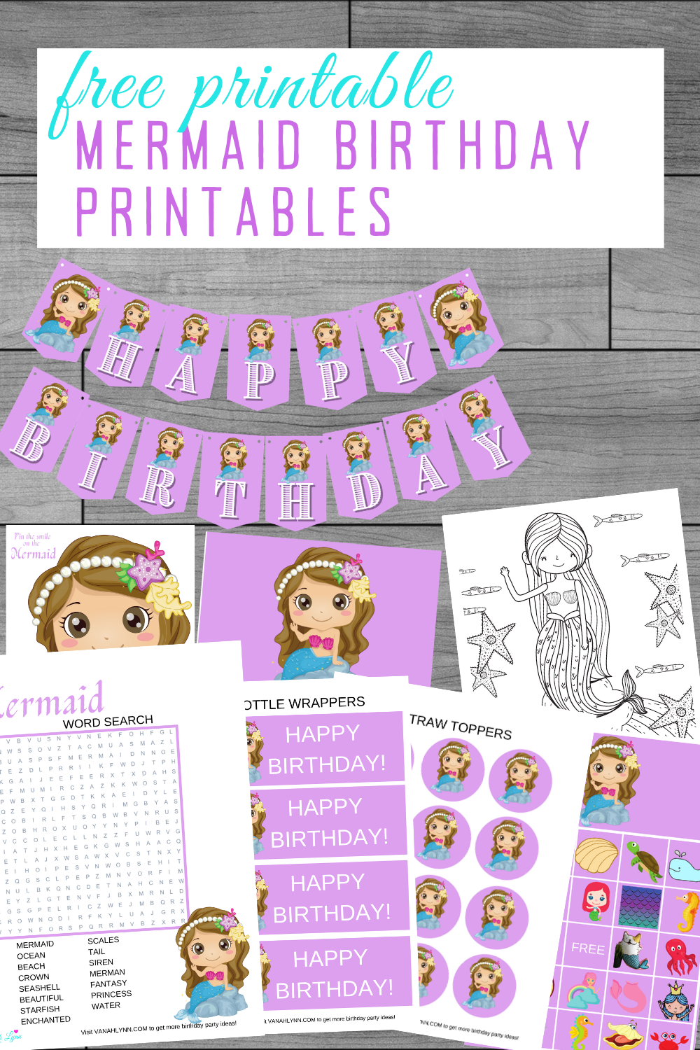 free printable ocean party kit