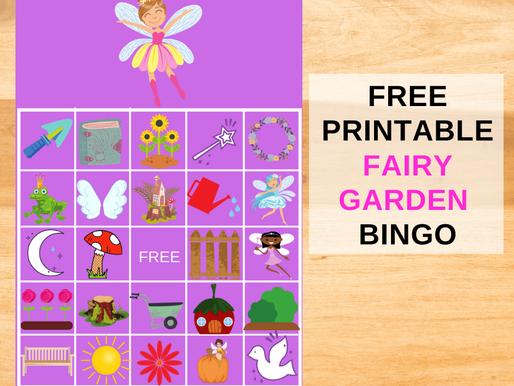 FREE Printable Fairy Garden BINGO