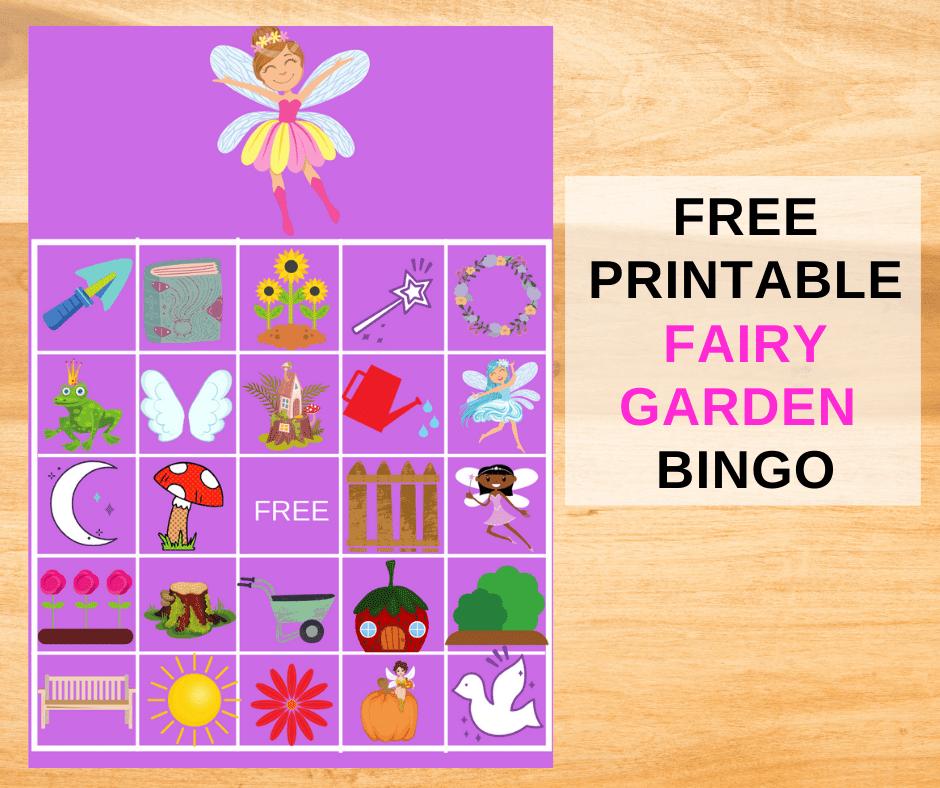 fairy bingo printable