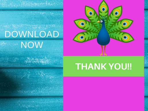 FREE Peacock Thank You Card - Printable Thank You With Animals