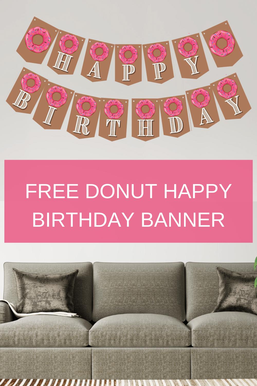 diy donut birthday banner