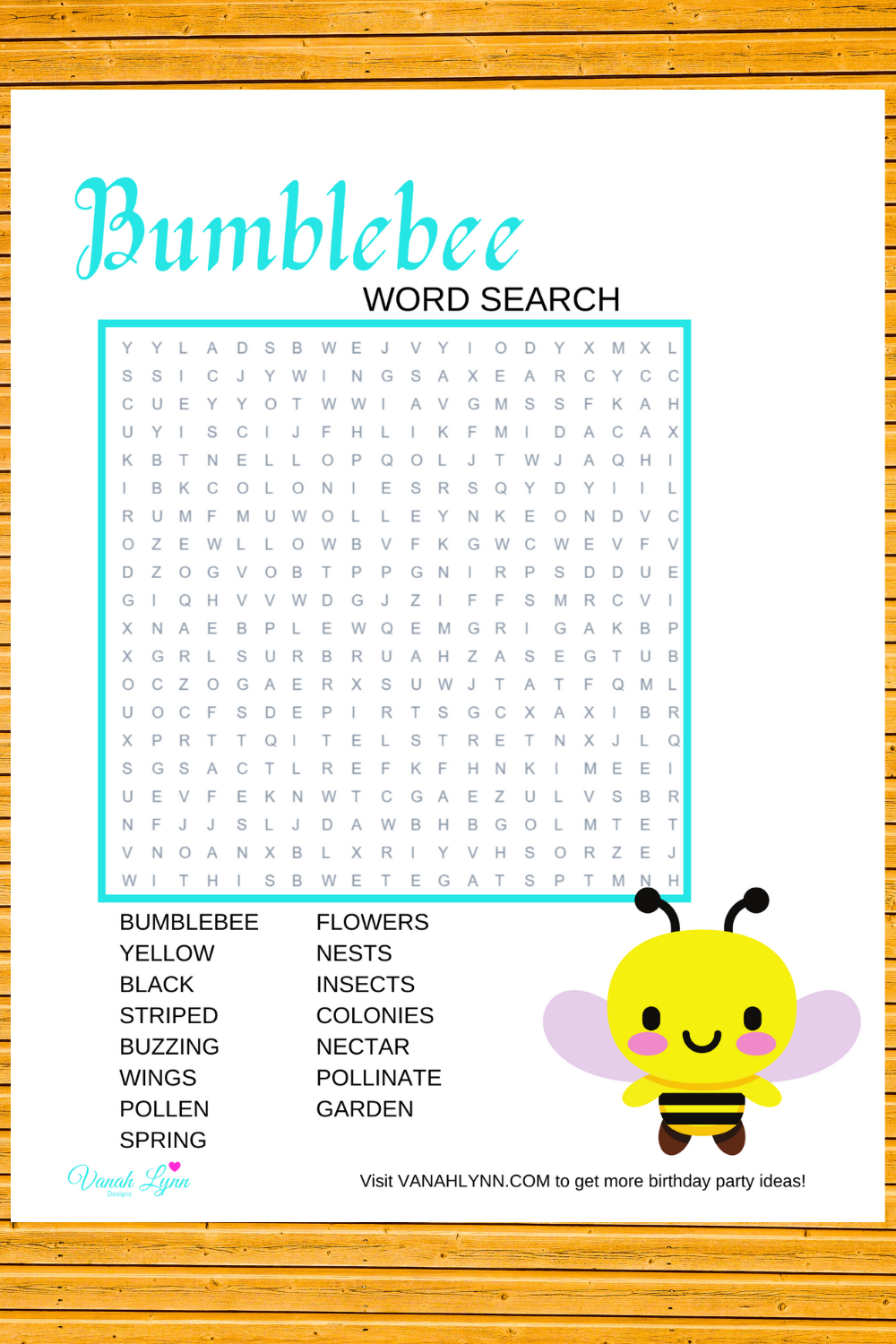 bumble bee birthday party game ides for kids