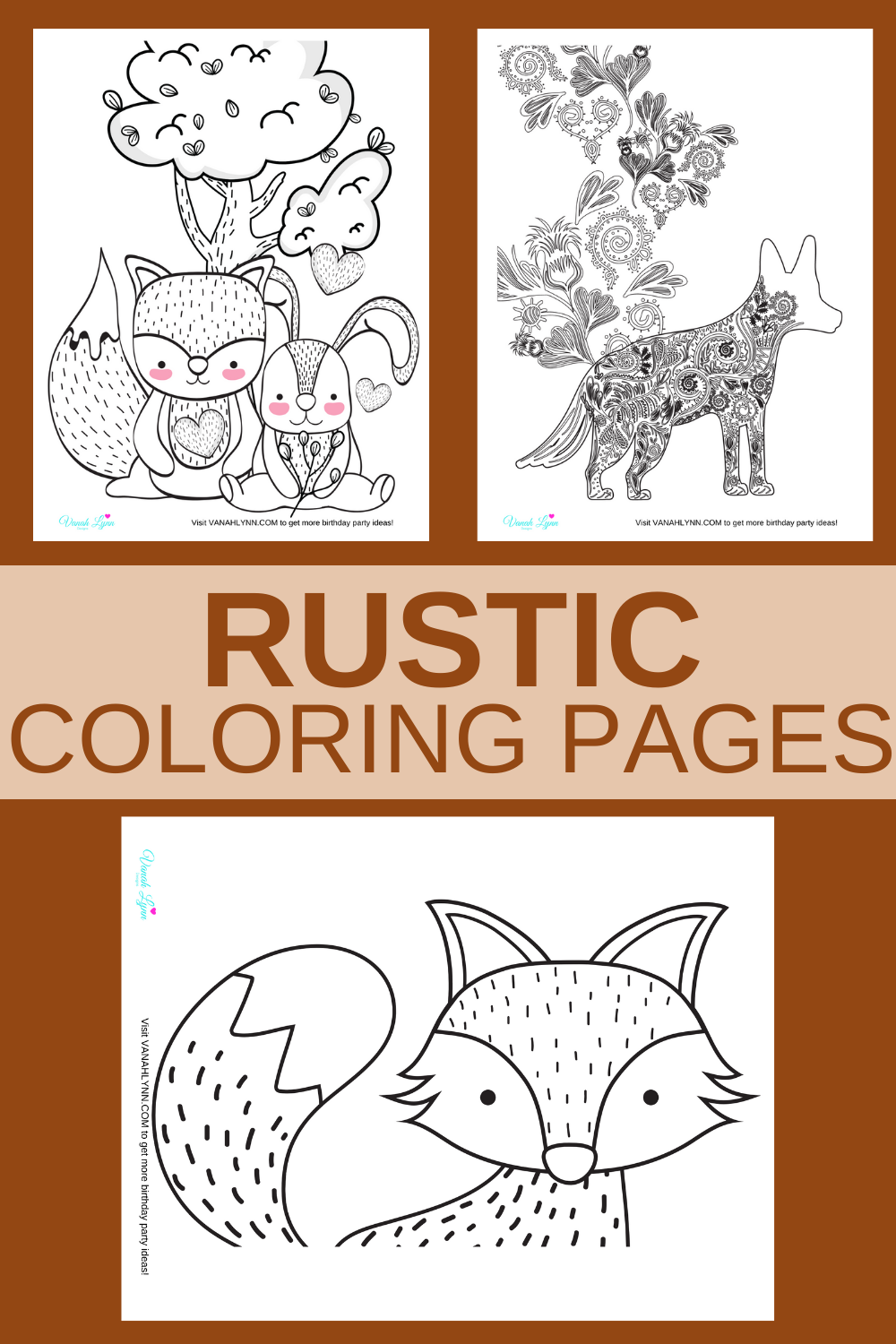 free printable rustic animal themed activity sheets