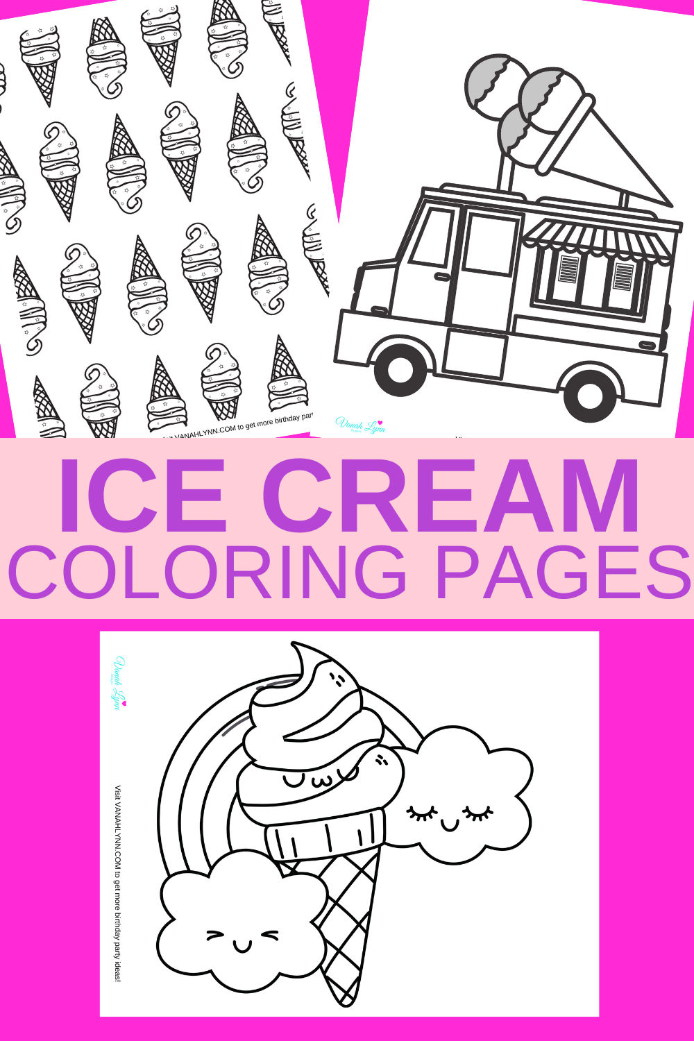 ice cream activity sheet for toddlers on a rainy day
