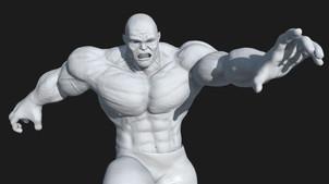 Hulk Fan Art- WIP. Zbrush