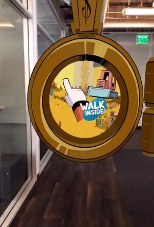Art directed Disney's AR portal