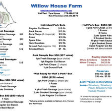 Willow House Price List
