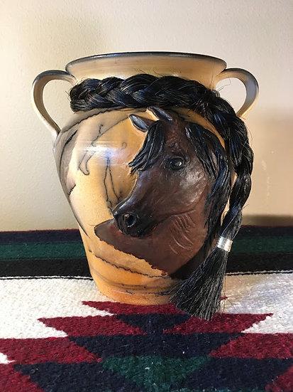 Custom Sculpted Horse Face Pottery