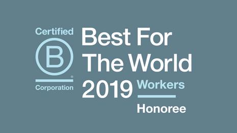 Lauréat des meilleures BCorp pour notre politique sociale