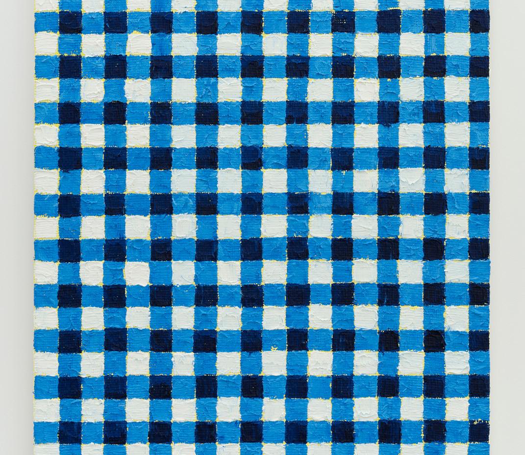 Michelle Grabner   Ultramarine blue   yellow