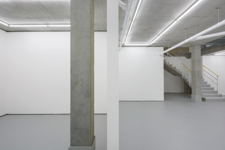 adjoining gallery spaces