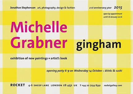 Michelle Grabner Gingham Rocket The Suburban James Cohan