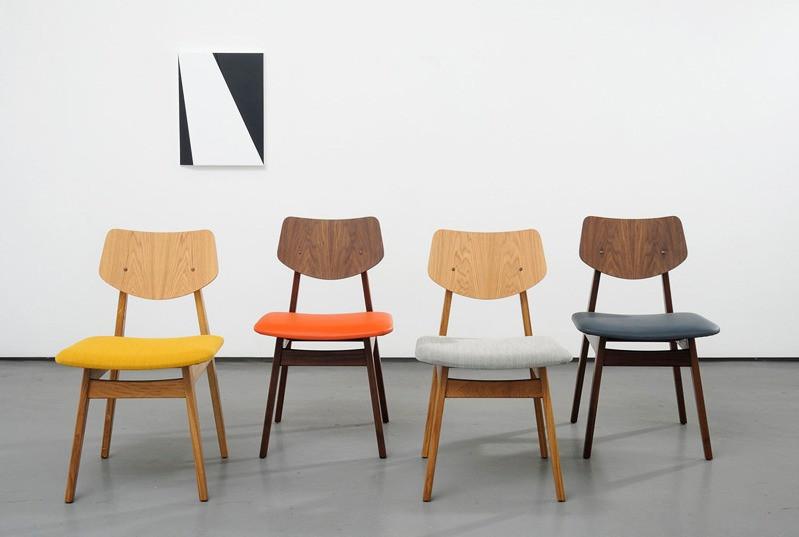C 275 chairs in oak & walnut