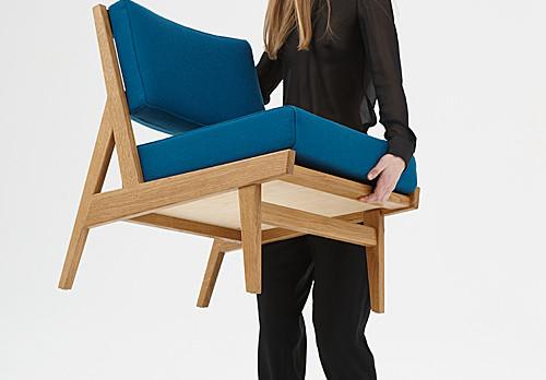 U 431 armless chair