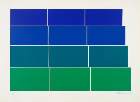Graded steps [green/blue]