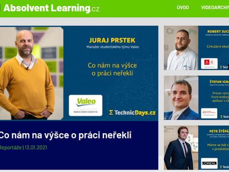 Projekt Absolvent Learning vzdělává Česko nyní i skrz mobilní aplikaci ABSOLVENTI.cz