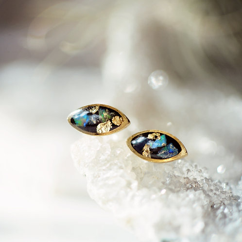 The Opal Eyes ~ Marquise shaped post earrings