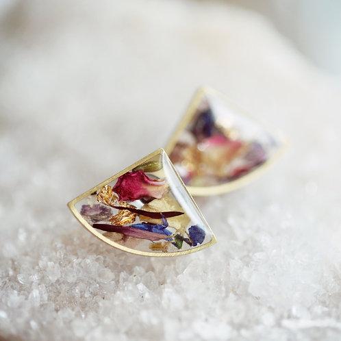 Garden Fan - Dried Flower Earrings