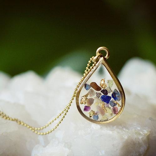 The Max~ Floating Gemstone Pendant, Custom Stone Choices