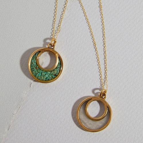 """The Sal~ Petite Open Crescent Necklace on 18"""" Chain"""