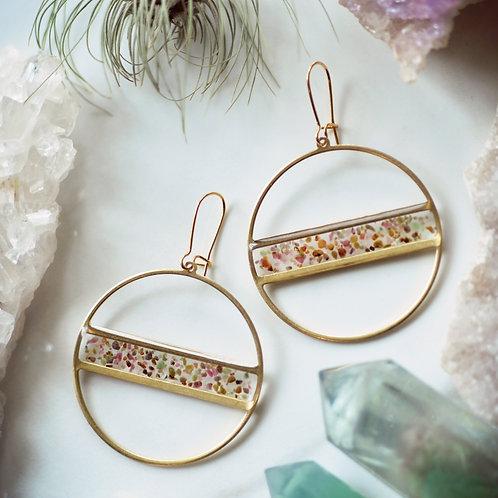 The Stripe ~ Ruby Fuchsite Scattered Earrings