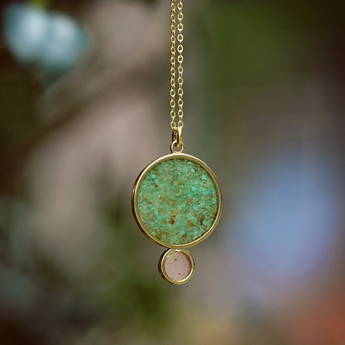 The Eclipse Necklace~ Long Crushed Gemstone Necklace