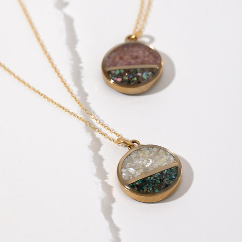 The Hana Necklace ~ Full crushed inlay gemstone necklace