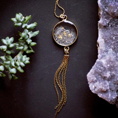 The Miki ~ Gemstone tassel necklace