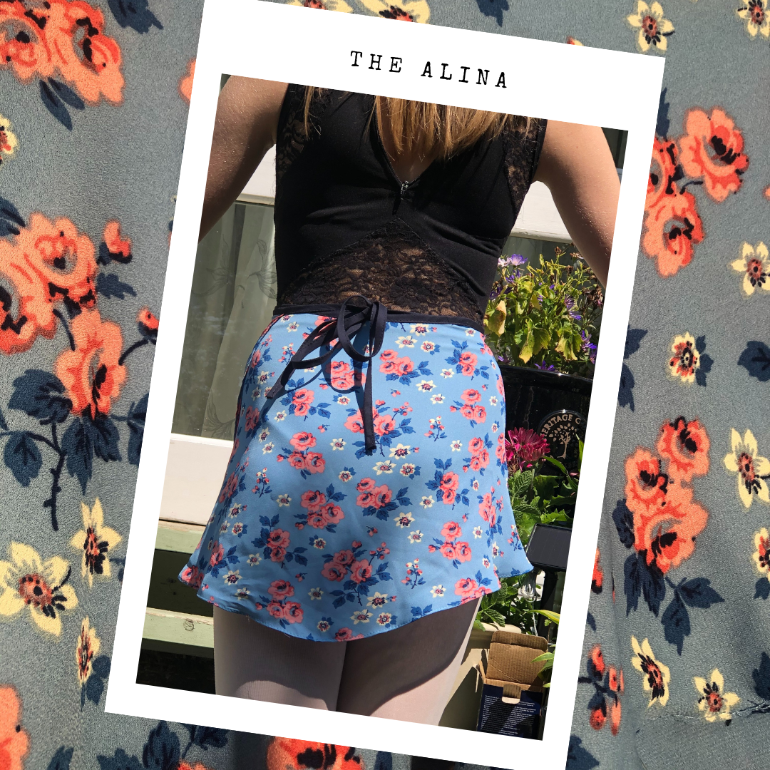 Ballet Wrap Skirt - The Alina, view from the back