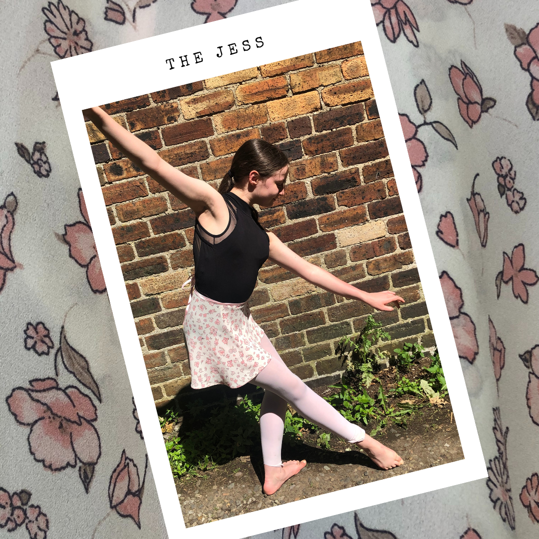Dancer Rose wearing ballet wrap skirt - The Jess