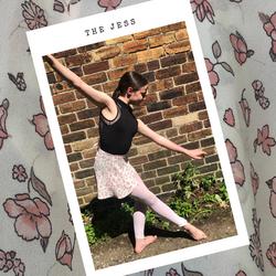Dancer Rose wearing ballet wrap skirt - The Jess