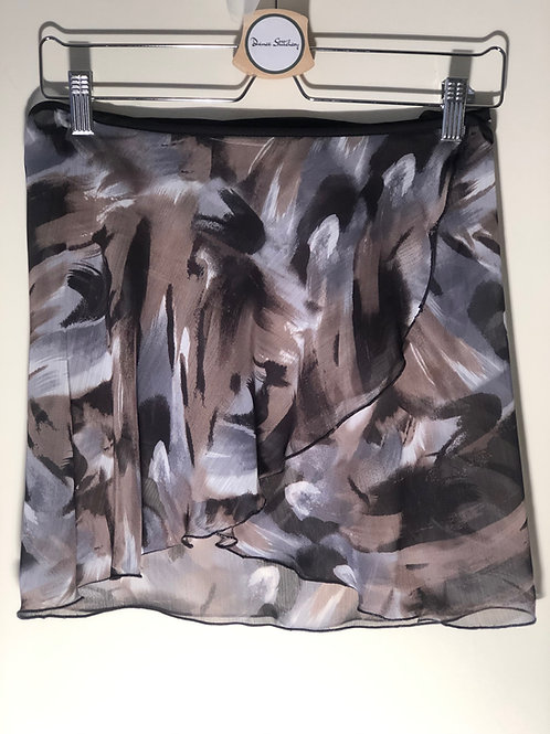 Ballet wrap skirt. Crinkle chiffon in greys and browns. Super floaty, super stylish
