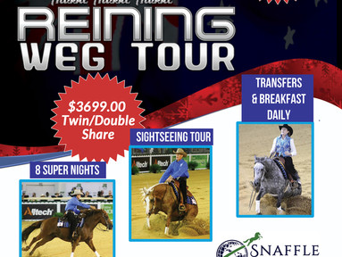 Reining WEG 2018 TOUR - Snaffle Travel