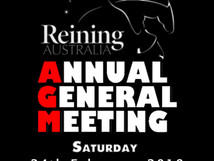 DATE CHANGE - Reining Australia Annual General Meeting