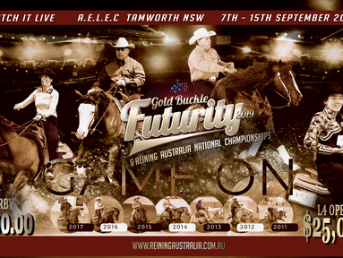 2019 Reining Australia GOLD Buckle Futurity & National Championships