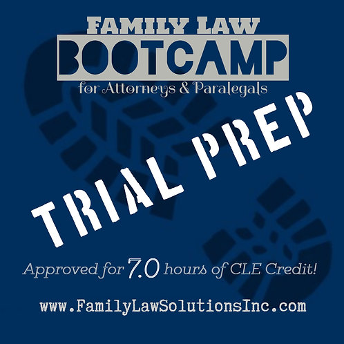 Discounted Admission:  Trial Prep Bootcamp